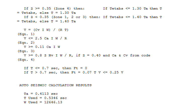 Calculate T in ETABS - Seismic Design - Structural